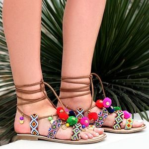 Chinese laundry beaded summer sandals size 9